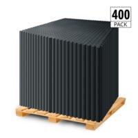 DURASTUD Garage Floor Tiles PVC 50cm (Black)