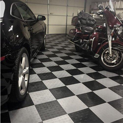 Duramat UK - Gridlock Garage Floor Tiles 30cm (Black/Grey)